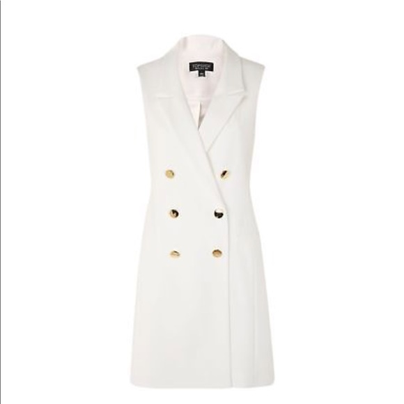 ac64fe82c5b15a Topshop Sleeveless White Blazer Dress. M 5afa331845b30ce2a6f4609c